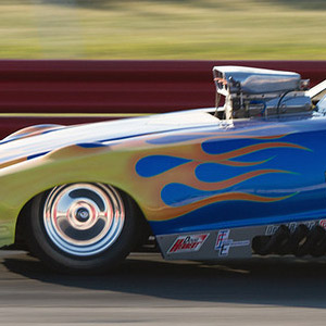 Another exciting part of the show are the dozens of A/FX, Gassers, Dragsters, Altereds and Hot Rods that attend the events. Chuck Clark Photo.