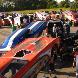The staging lanes at Marion are filled with fiberglass bodies. Matt Brehmer Photo.