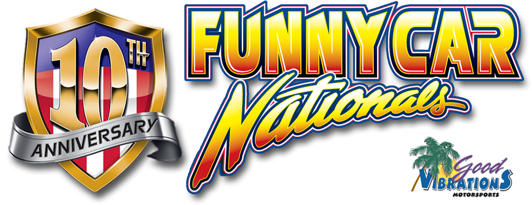 The Good Vibrations Motorsports Funny Car Nationals Mobile Retina Logo