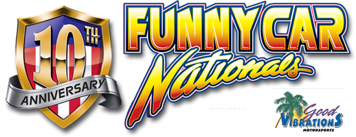 The Good Vibrations Motorsports Funny Car Nationals Mobile Logo