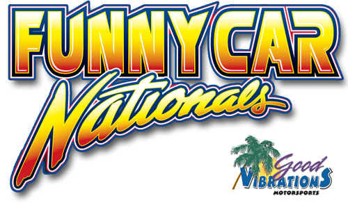 The Good Vibrations Motorsports Funny Car Nationals Retina Logo