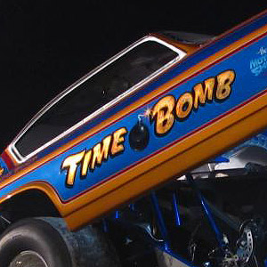 The Time Bomb 1972 Vega nostalgia funny car of Rocky Roxlau from New Jersey representing one of the East Coast cars. Matt Brehmer Photo.